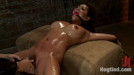 Hot asian is finger banged to multiple orgasms  then vibrated to multiple back and forth no mercy. Hot Asian with huge tits and a tight shaved vagina is bound spread, oiled, made to ejaculate from finger banging and vibrators, back & forth over & over.