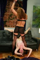 Kym Wilde humiliates and punishes girl while a man watches