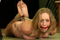 Cloe Hart, Audrey Leigh, and Trixie Kitten in Hogtied