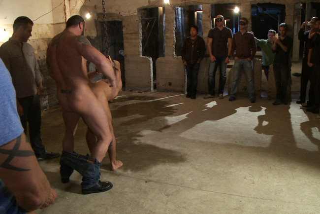 Bound in Public - Spencer Reed - Dominic Pacifico - Dominic Pacifico gang fucked & pissed on by strange men #1