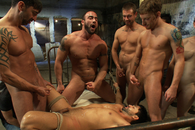 Bound in Public - Spencer Reed - Dominic Pacifico - Dominic Pacifico gang fucked & pissed on by strange men #12