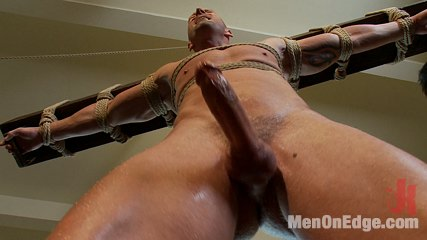 Mitch vaughn  the muscle stud. Muscle stud Mitch Vaughn is suspended crucifix style and edged to a point of insanity.