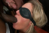 A kinky couple hosts an intense gangbang with bondage and double penetration!