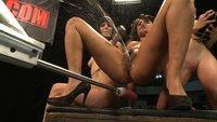Squirting, huge cocks, fast machines, ass pounding, girl/girl domination by the biggest names - Annie Cruz, Bobbi Star, Lorelei Lee & Kristina Rose