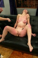 Whipping, spanking, hotwax, footworship and anal strap-on sex
