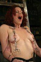 Venus May in predicament bondage with electroplay!