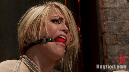 Hot blond s nipples are abuse feet tickled  pussy have intercourse with a stick made to cum like a whore. Hot blond from next door is bound in a sub basement. Her nipples abused, feet tickled and cunt make love with a stick, made to cum like a whore.