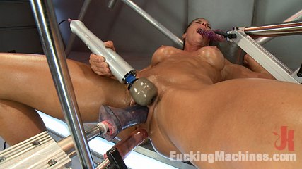 Bringing in the heavy guns ariel xtra. Muscles ripping, air tight 3 machine plowing orgasms and aliens all get the attention of Ariel X & her holes.