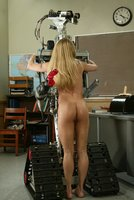Kylie gets a machine fucking  for being too horny in class.