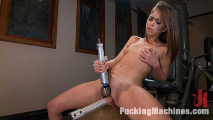 Do not have intercourse your computer monitor when you see riley reid. She's 20, smoking hot in gym socks & getting a cunt workout. Riley squirts on the machine cock, & the Sybian fucks her in to cumshot space in piledriver.
