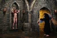 Cassie and Dana DeArmond try to escape from the Mad Monk.