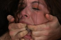 Brand new girls has 3 firsts at kink.com. First bondage, first gangbang, and first DP!!!! This amateur hottie takes it all like a champ!!!