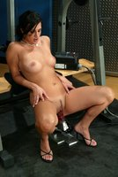 Hot newcomer tests her pussy size on the fuckingmachines.