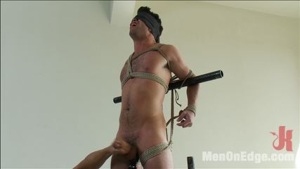 Troy collins  california beach stud. California beach stud Troy Collins receives an edging in bondage for the first time in his life.
