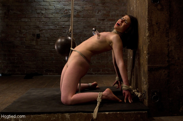Sexy pain slut, get worked over by Isis Love. Predicament bondage as Juliette body is abused with pain & pleasure!  Multi-orgasms, pussy torture!