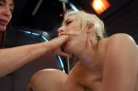 The HOTTEST blonds bound,machine fucked until they quiver, fisted by Princess Donna,ass &pussy fucked by Fucksalls while the ropes pin them to the bed