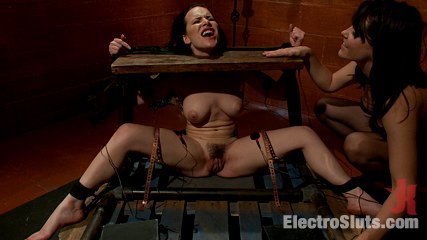 Katie st  ives bound tight and shocked. It's Katie St. Ive's first bondage scene and you'll only see it on Electrosluts! Irked at her restraints, she is still eager to please!