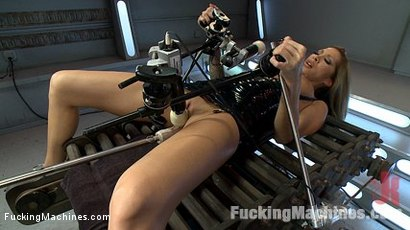 Man EATING MILF gets machine fucked, cums in record speeds, has exorcism-like orgasms and shows off her tits while the Sybian rips O's from her.