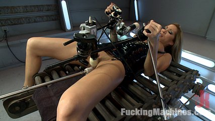 Gone in 60 seconds hot milf cums fast massive and over and over again from machines. Man EATING MILF gets machine fucked, cums in record speeds, has exorcism-like orgasms and shows off her natural tits while the Sybian rips O's from her.
