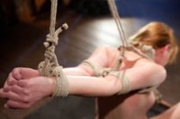Marie McCray can't get enough rope bondage at home, so she's back begging Hogtied for the real thing. She says she only likes it on the clit, but scen
