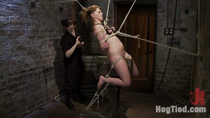 Marie mccray. Marie McCray can't get enough rope bondage at home, so she's back begging Hogtied for the real thing. She says she only likes it on the clit, but scen