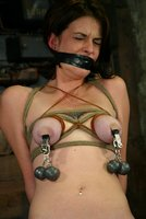 Lynn Dumaire recieves nipple torture and multiple orgasms.