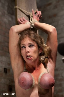 Felony is bound spread eagle and mercilessly subjected to mind blowing orgasms as the sybian finishes her off in the last part of her live show.