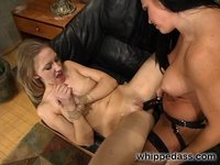 18 year old Tina dominated by her mature roomate Cherokee