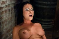 Courtney Coxx look a like tied up, fucked, caned, hair pulled, teased with ice and made to beg to cum at the mercy of fucking machines.