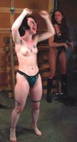 Kathleen gets hard SM play from Kym, hotwax, hard whipping