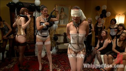 Justine Joli's Whipped Ass/Electrosluts LIVE and PUBLIC all girl birthday BDSM orgy!!