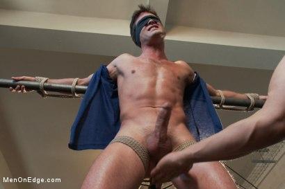 Straight stud Lance Hart endures bondage, balls busting and extreme edging.