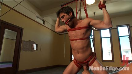 Straight stud  bondage balls busting begging to ejaculate. Straight stud Lance Hart endures bondage, balls busting and extreme edging.