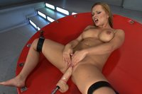 Katja Kassin, fucks the machines like she's having the last orgasms on Earth. Great butt fucking from one of the juiciest, roundest ass in the biz.