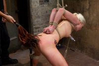 Tough blonde bombshell & fan favorite Lorelei Lee gets bound & face fucked live with fatigue bondage, suspension, pile driver, and harsh predicaments.