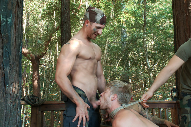 Bound in Public - Logan Stevens - Christian Wilde - Logan Stevens is turned into a sex slave at a campground #15