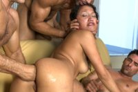 Vicki Chase does her FIRST GANGBANG, FIRST DP, DOUBLE VAGINAL PENETRATION, DOUBLE ANAL, and TRIPLE PENETRATION EVER!