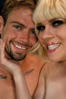 Loads of cum, toys, ass fucking, face fucking, Transexual Top, Jesse Flo milks her man FIVE times, ties him up & relentlessly teaches him he's a worm