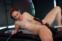 Sassy-Red-Head-with-Gorgeous-Long-Legs-Fucked-OUT-by-Machines
