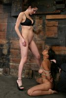 Two on one action with Sophia and Princess Donna.