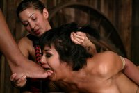 Both girls enjoy dishing out pain and humiliation.
