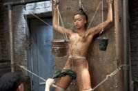 Skin Diamond's Complete Edited Live Show - tough water/predicament spread eagle bondage, hogtie asphx play, and tight pile driver strappado.