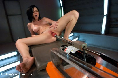 Double Penetration, huge machines, big cocks, lively sexy girl cumming - it's the stuff wet dreams are made of -Veruca James rides the FuckingMachines