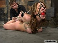 Beauty meets Hogtied as Isabella Soprano is tied and tickled.