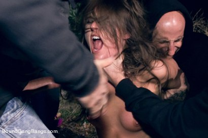 Girl submits her gangbang fantasy and lives it out in her first porn ever! Fantasy role play with take down in the woods. Double anal!