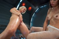 10 feet blasts of pussy juice, machines soaked, camera dosed, fucking & squirting that makes legends. Two hot babes put out the fire with their cum!