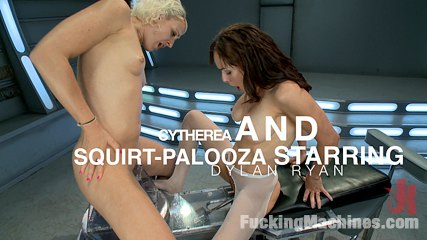 Killing the machines with vagina squirt cytherea and dylan ryan. 10 feet blasts of cunt juice, machines soaked, camera dosed, make love & squirting that makes legends. Two hot babes put out the fire with their cum!