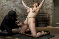 Former ballerina Annika gets challenged with intense breast bondage, predicament suspension bondage, and a crazy hard back arch.