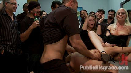 Party girl. Beretta James becomes the life of the party as she is stripped, fucked, humiliated, and fisted by Lorelei and all her guests.
