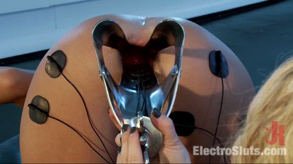 Roxy s amazing electro make love double penetration fisting. Raxy Raye lets Aiden Starr to amazing electro-play in her stretched holes!